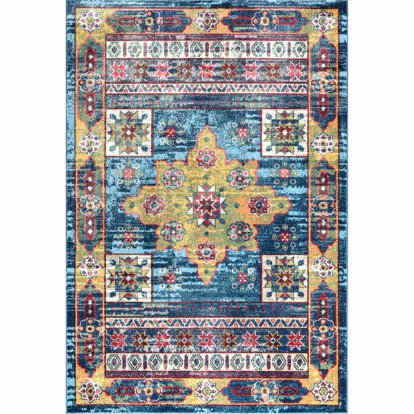Herminia Blue Area Rug by Bungalow Rose