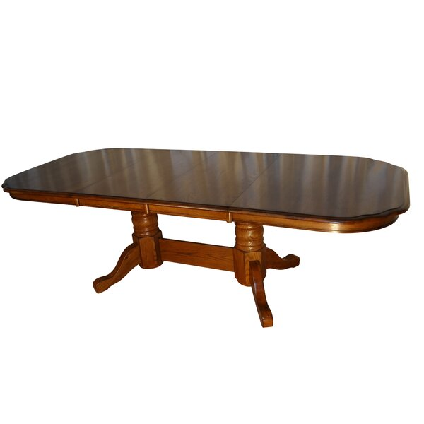 Templepatrick Solid Oak Extendable Solid Wood Dining Table by Darby Home Co