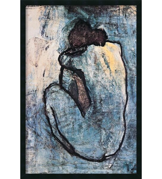 Blue Nude By Pablo Picasso Framed Painting Print