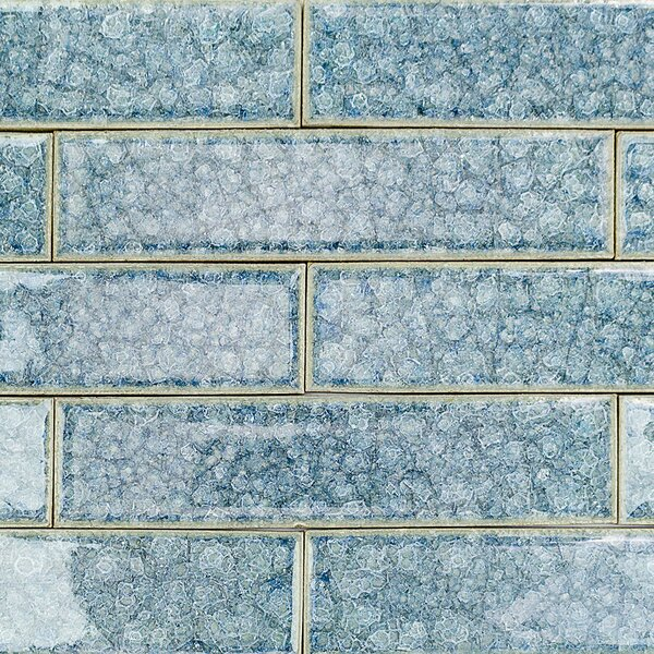 Roman Selection 2 x 8 Glass Subway Tile in Iced Blue by Splashback Tile