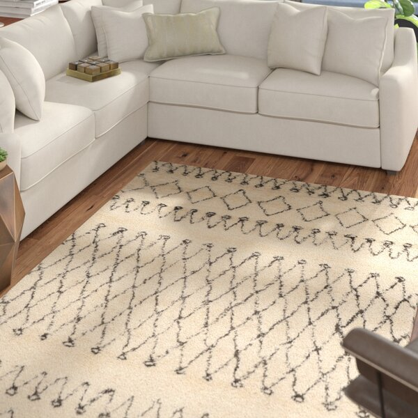 Gholston Hand-Tufted Wool Tan/Brown Area Rug by Mercury Row