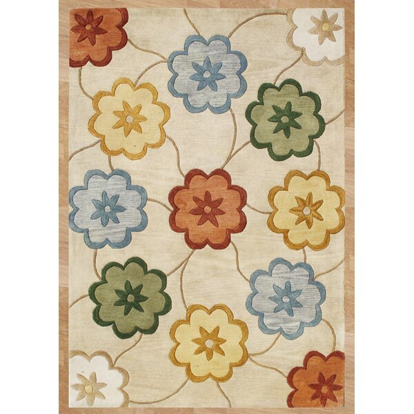 Olex Hand-Tufted Beige Area Rug by The Conestoga Trading Co.