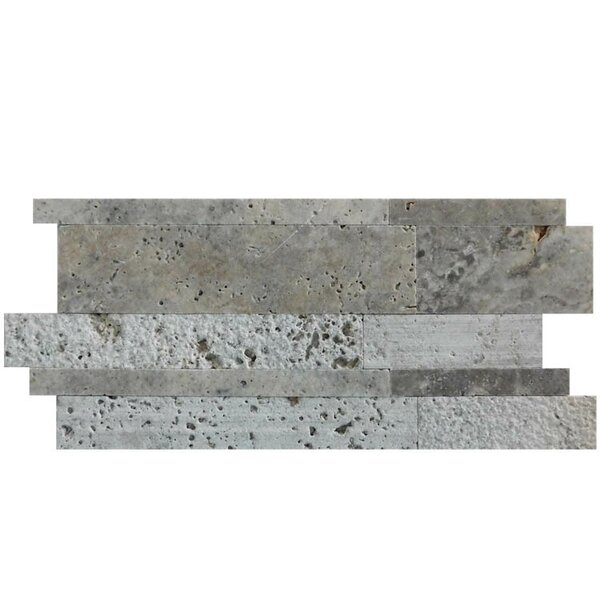 Salix 12 x 12 Natural Stone Mosaic Tile in Silver by QDI Surfaces