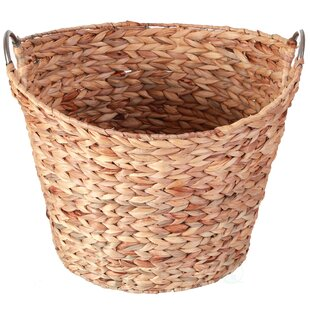 Comparison Wicker Large Round Water Hyacinth Laundry Basket By Highland Dunes
