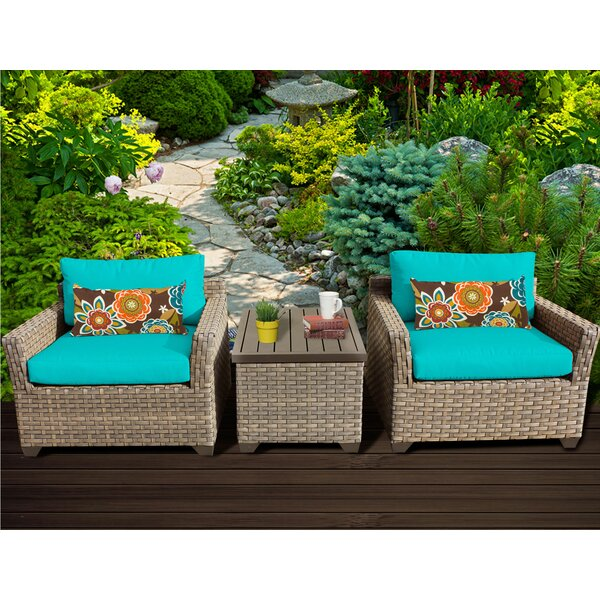 Rochford 3 Piece Seating Group with Cushions by Sol 72 Outdoor