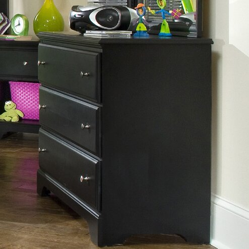 Midnight 3 Drawer Dresser by Carolina Furniture Works, Inc.