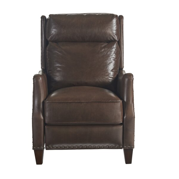 Velma Leather Recliner by Canora Grey
