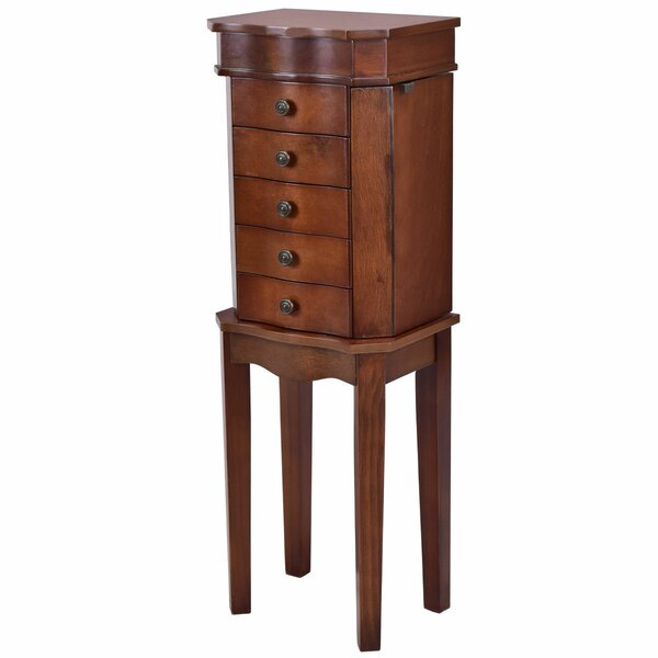 Port Pirie Free Standing Jewelry Armoire with Mirror by Charlton Home