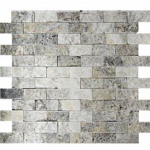 Split Face 1 X 2 Stone Mosaic Tile In Silver