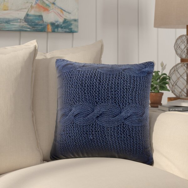 Loganville Cable Knit Throw Pillow by Beachcrest H