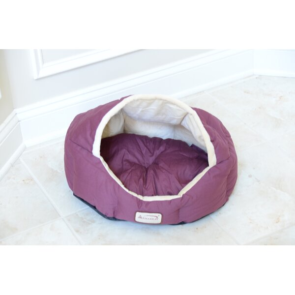 Cat Bed in Burgundy and Beige by Armarkat