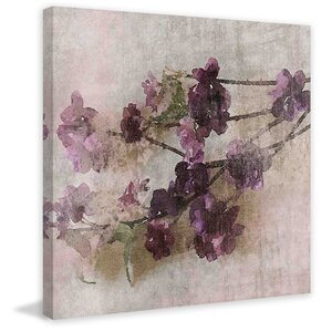 'Purple Flowers 2' by Irena Orlov Painting Print on Wrapped Canvas by Marmont Hill