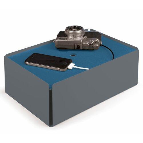 Kabelbox aus Stahlblech / Leder ClearAmbient Farbe: Fehgrau / Rauchblau | Baumarkt > Elektroinstallation > Weitere-Kabel | ClearAmbient