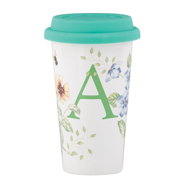 Butterfly Meadow Thermal Travel Mug by Lenox