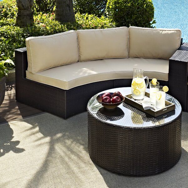 Cleopatra 2 Piece Sectional Set with Cushions by Mercury Row