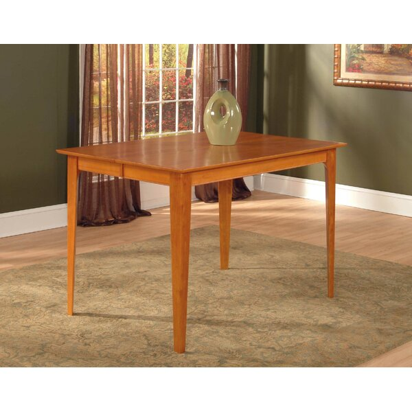 Hobert Solid Wood Dining Table by Charlton Home