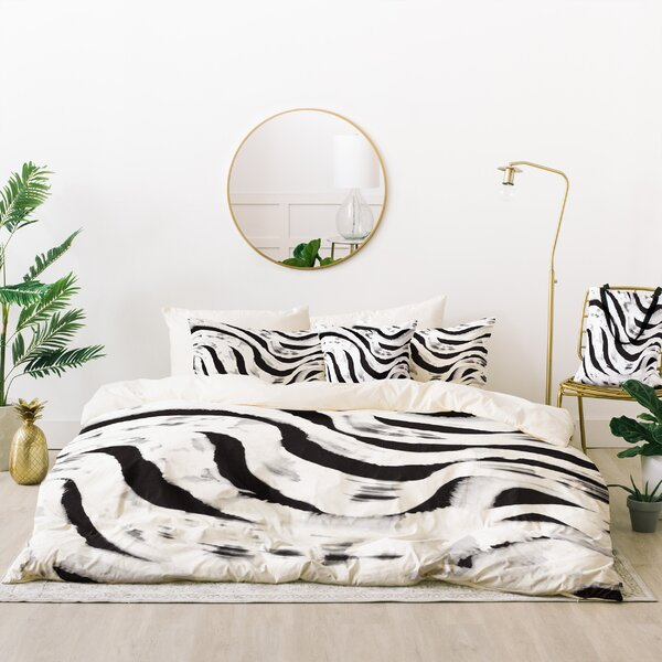 Zoe Wodarz Zebra Reflected Duvet Cover Set