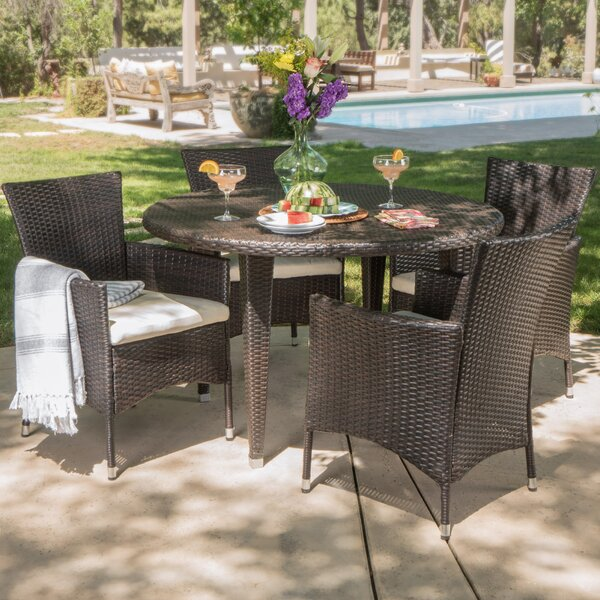Dionisio 5 Piece Dining Set with Cushions by Ivy Bronx Ivy Bronx