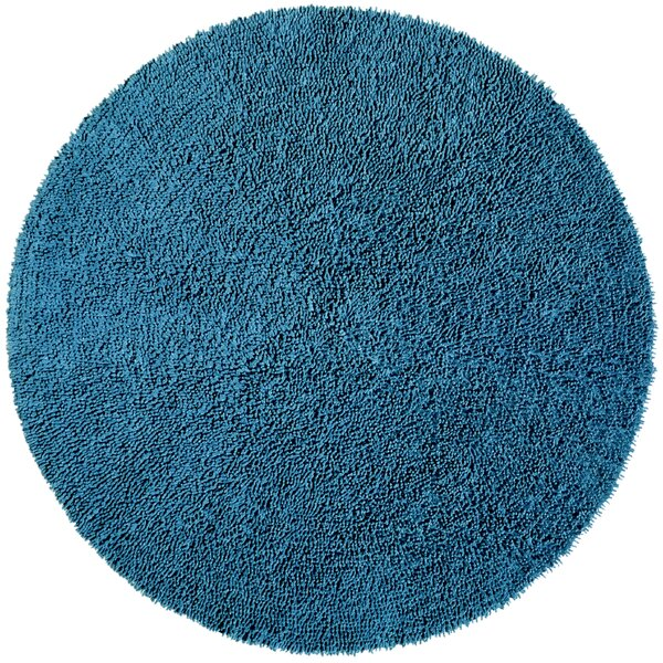 Baugh Shag Chenille Blue Area Rug by Ebern Designs