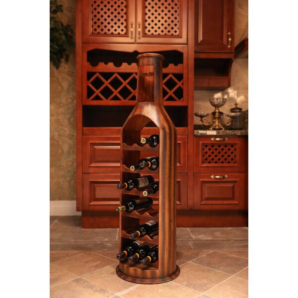 Gumm Wooden 18 Bottle Floor Wine Rack by Fleur De Lis Living