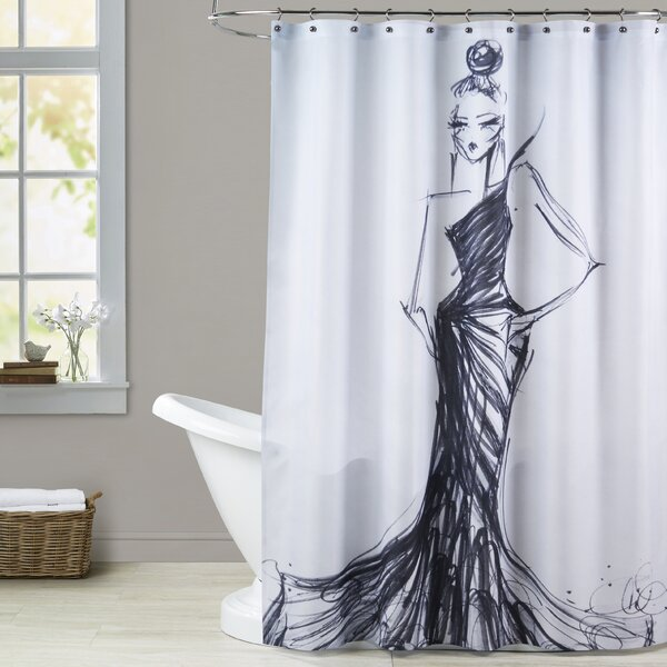 Adele Bird of Paradise Shower Curtain by House of Hampton