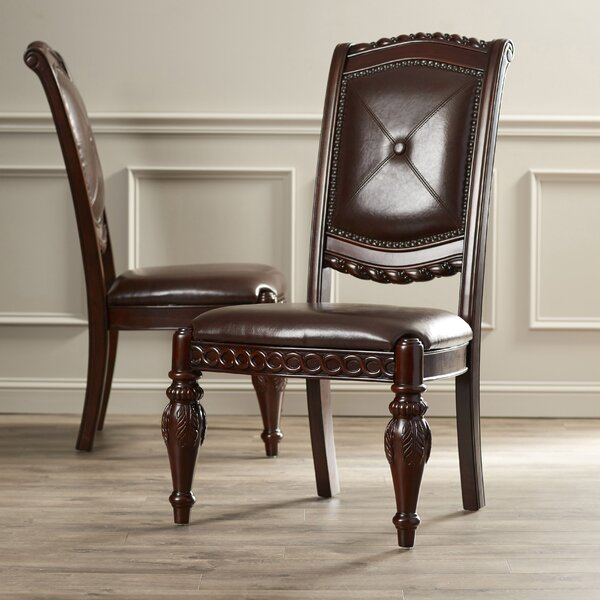 Hassler Tufted Side Chair in Rich Cherry (Set of 2) by Astoria Grand Astoria Grand