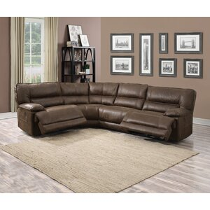 Faustino Reclining Sectional Red Barrel Studio