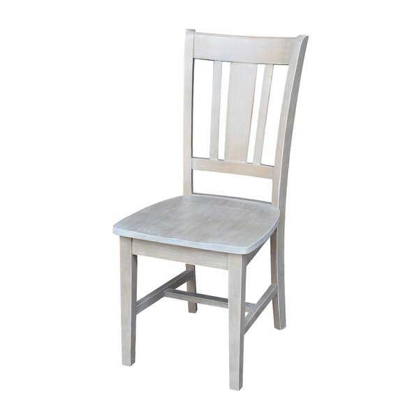 Grau Solid Wood Dining Chair by Beachcrest Home