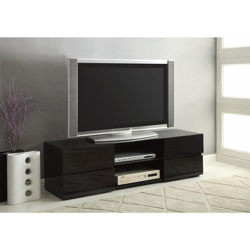 Orren Ellis Jordan La Elegant High Gloss Tv Stand Wayfair