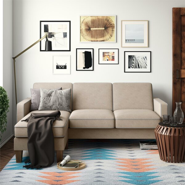 Modern Beautiful Bowen Reversible Sectional by Novogratz by Novogratz
