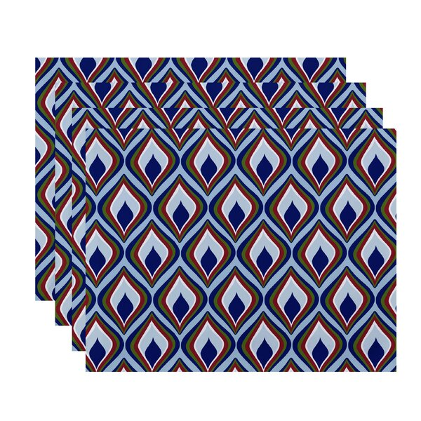Shivani Geometric Placemat (Set of 4) by Bungalow Rose