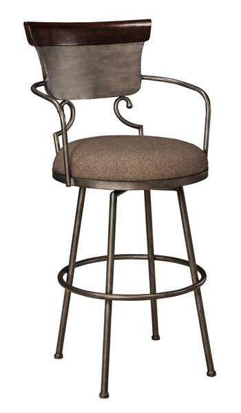 Carbondale 30.25 Swivel Bar Stool by Darby Home Co