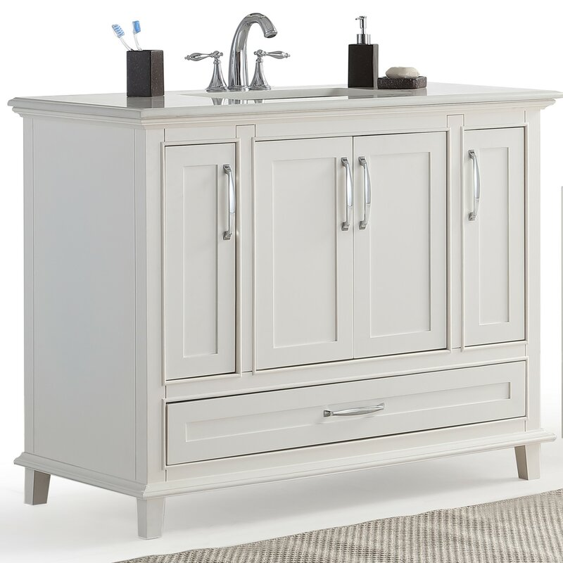"simpli home ariana 42"" single bathroom vanity set & reviews | wayfair"