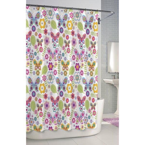 Kassatex Bambini Shower Curtain Cotton Butterfly Shower Curtain U0026 Reviews    Wayfair