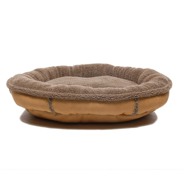Arms Faux Suede Oblong Comfy Cup Donut Dog Bed by Tucker Murphy Pet