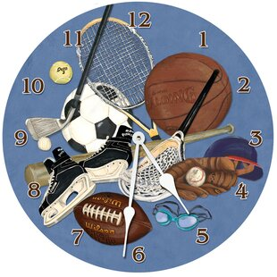 Sports 10 Little Athlete Wall Clock by Lexington Studios