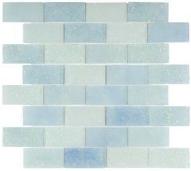 Lakeview 14 x 16 Glass Mosaic Tile in Antigua by Kellani