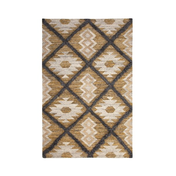Addison Avenue Hand Woven Wool Yellow/Ivory Area Rug by Foundry Select