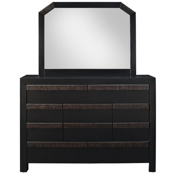 Tommy 10 Drawer Dresser With Mirror by Modway