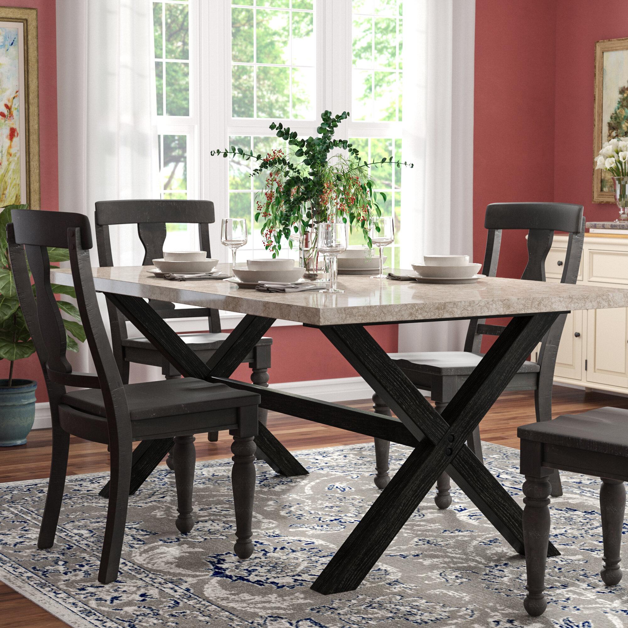 Red Barrel Studio Coleville Solid Marble Dining Table U0026 Reviews | Wayfair