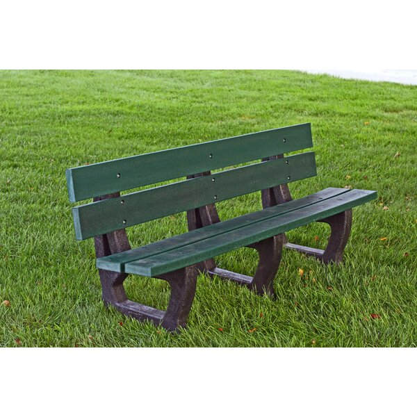 Petrie Recycled Plastic Park Bench by Frog Furnishings