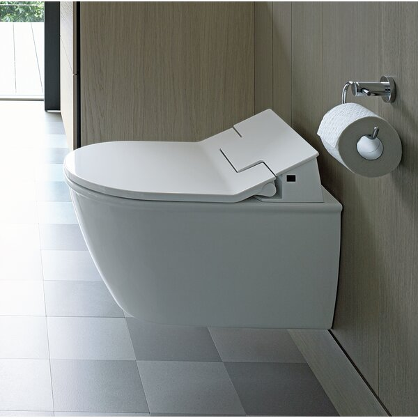 Darling New Dual-Flush Elongated Wall Mounted Toilet with Glazed Surface (Seat Not Included) by Duravit