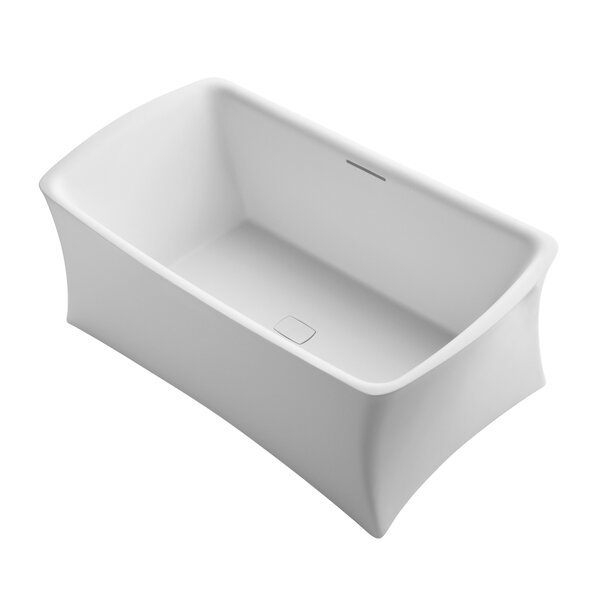 Aliento Meadow Freestanding Bath with Center Toe-Tap Drain by Kohler