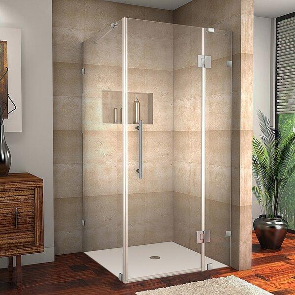 Avalux 37 x 72 Hinged Frameless Shower Door by Aston