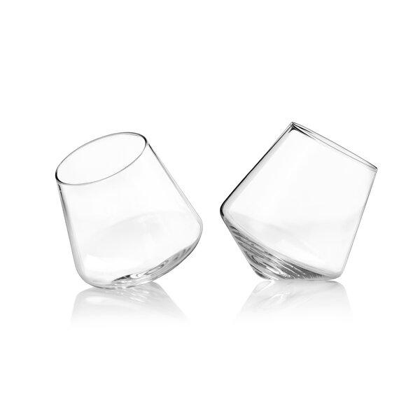 Raye Lead Free Crystal 12 oz. Stemless Wine Glass (Set of 2) by Viski