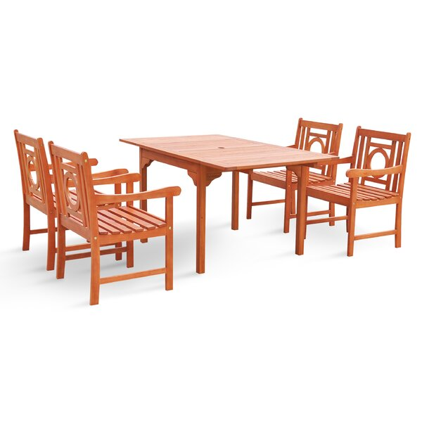 Blythe 5 Piece Dining Set by Breakwater Bay