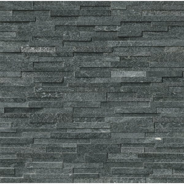 6 x 24 Quartzite Splitface Tile in Black by MSI