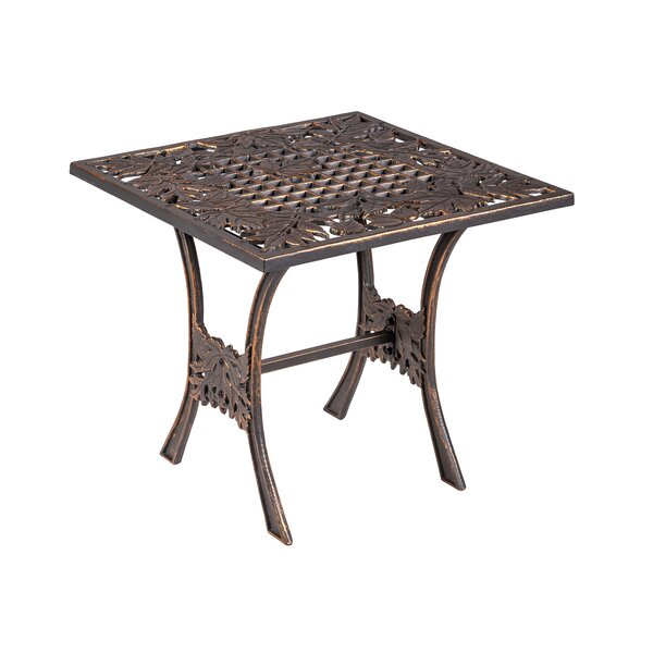 Mickens Cast Iron Side Table by Canora Grey