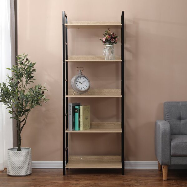 Chesley Wood And Metal Etagere Bookcase By Gracie Oaks