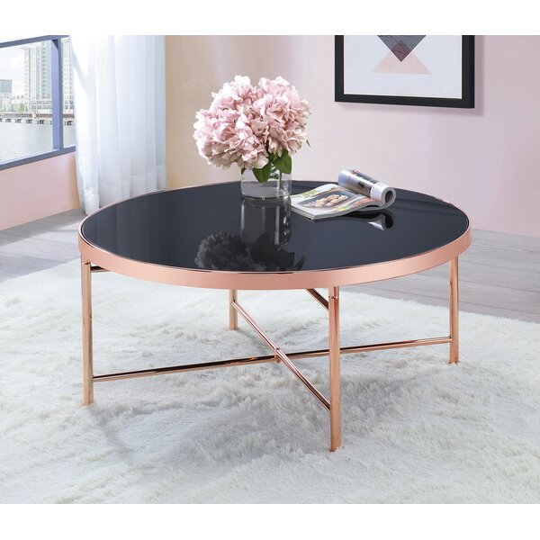 Round Coffee Table Rose Gold by Mercer41 Mercer41